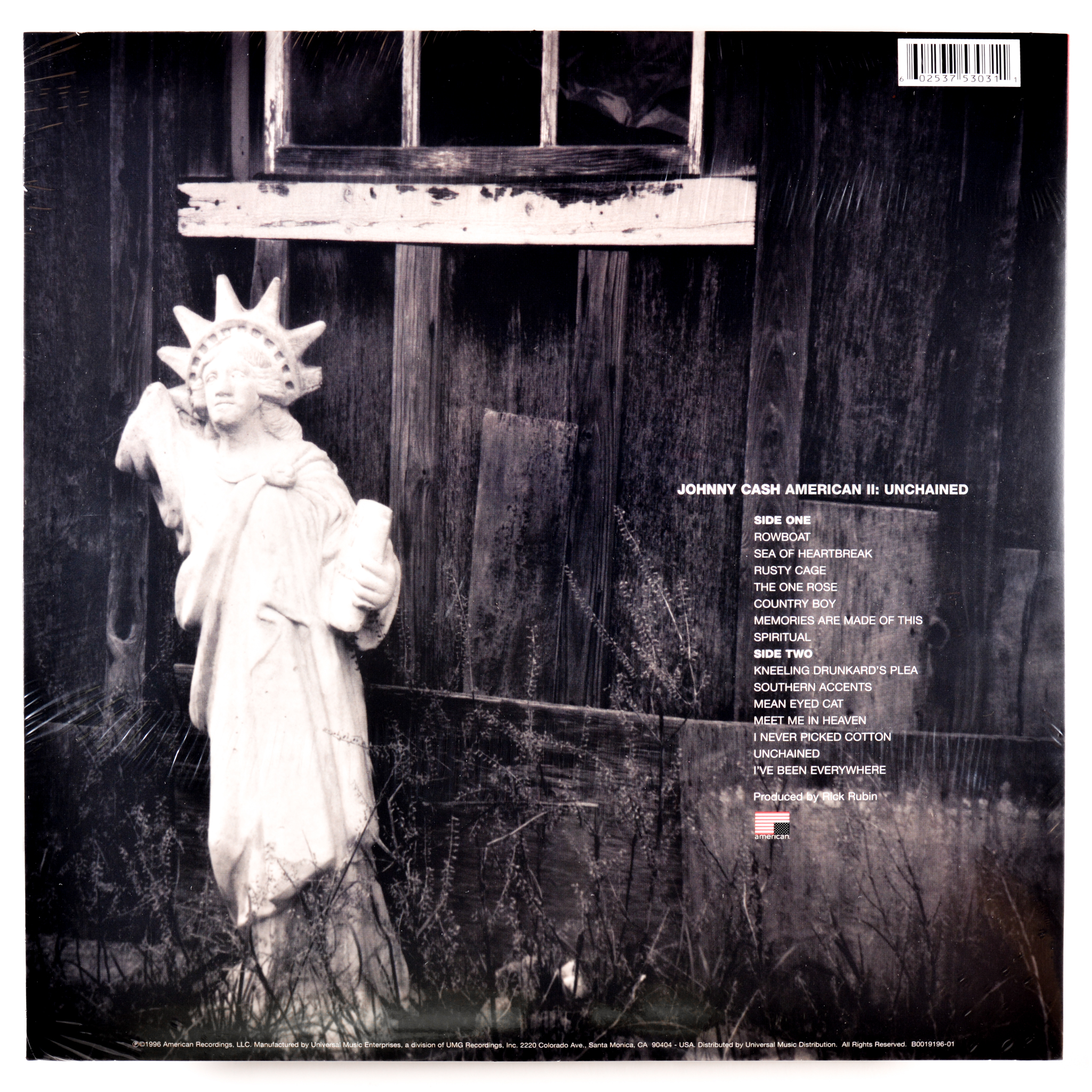 Home Store Folk Country CASH JOHNNY AMERICAN II UNCHAINED 180 GRAM