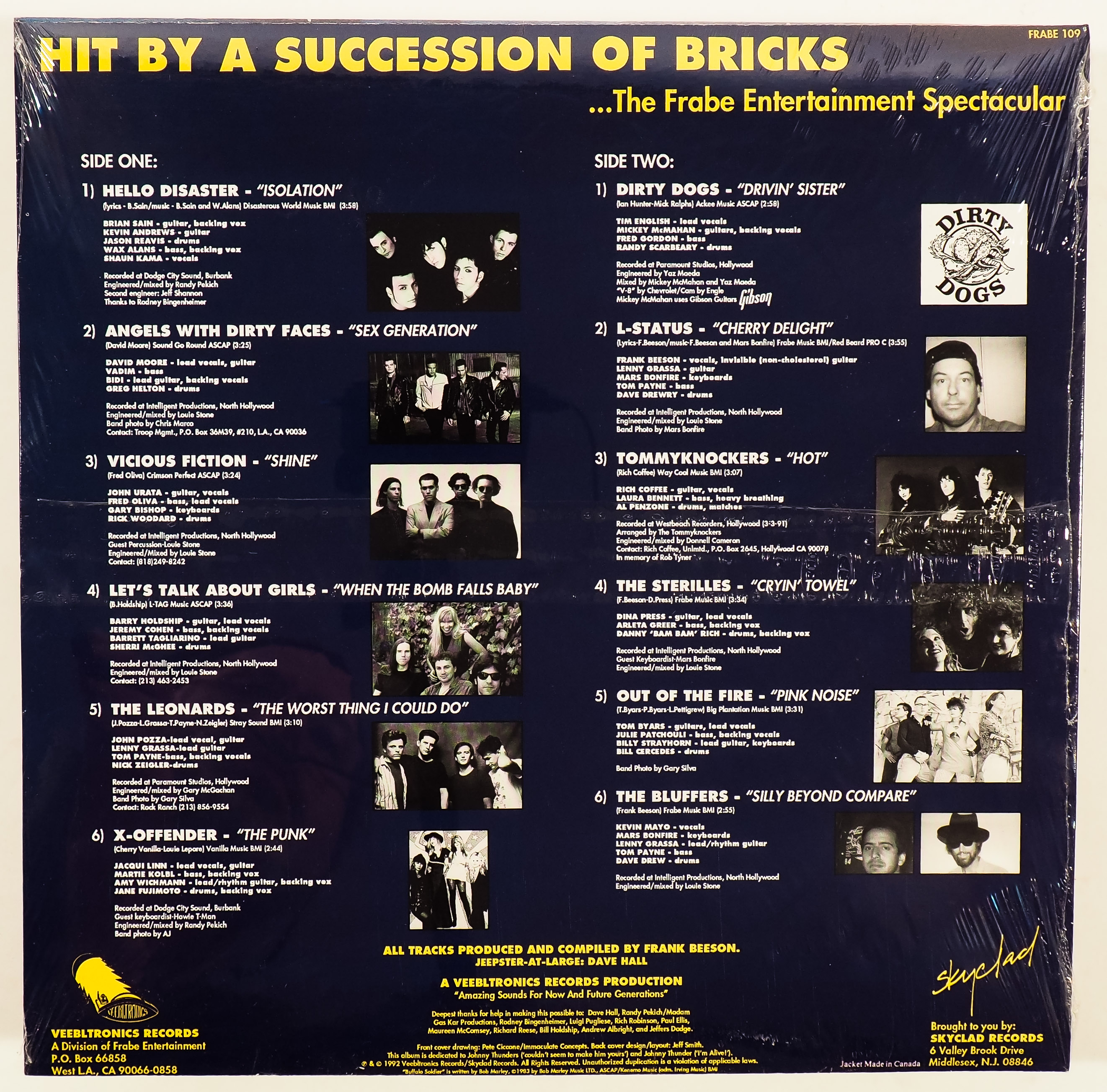 VARIOUS ARTISTS – HIT BY A SUCCESSION OF BRICKS – Get Hip Recordings!