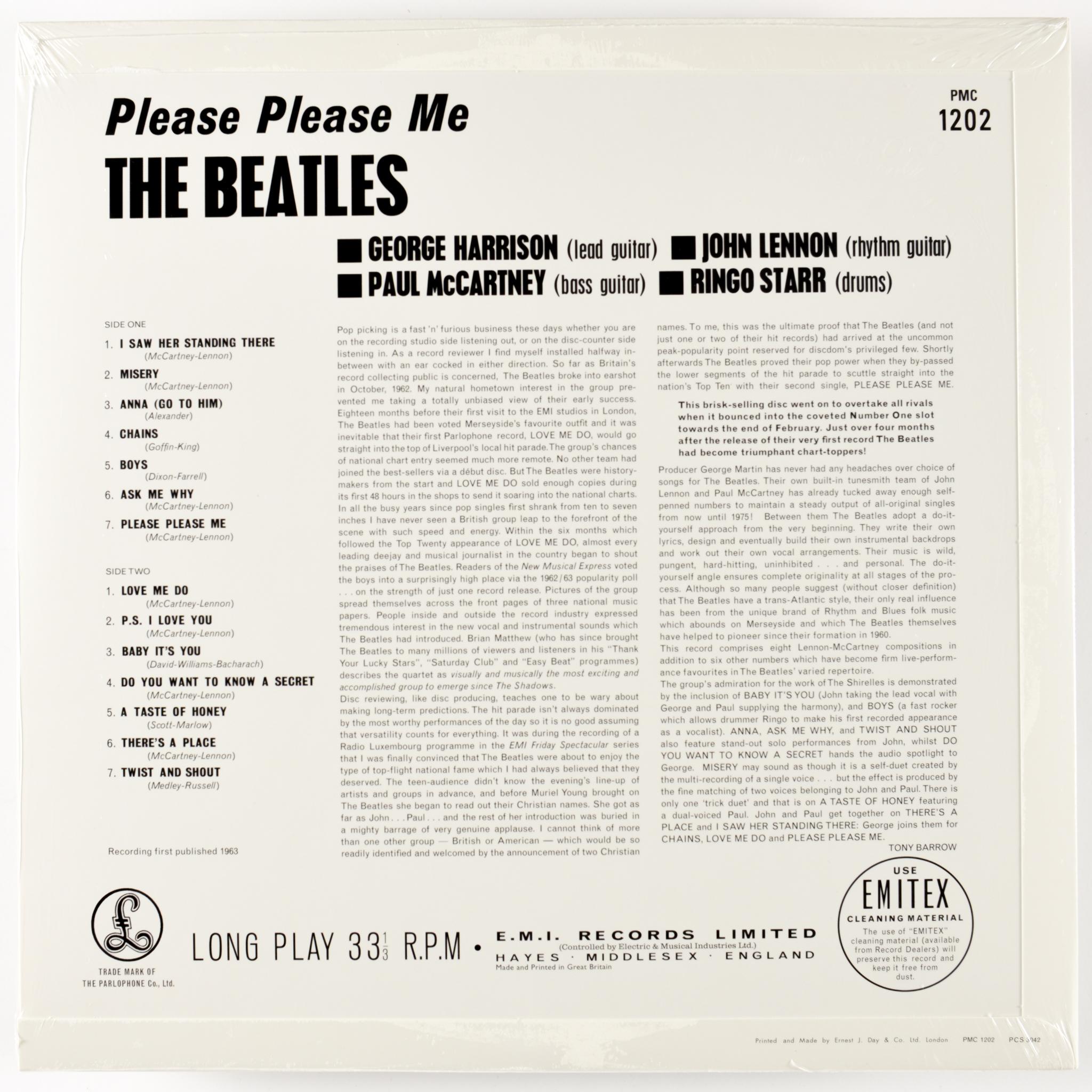 BEATLES - PLEASE PLEASE ME (MONO) - 180-GRAM